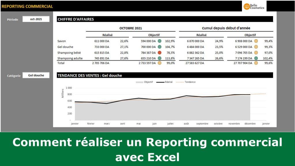 Comment réaliser un Reporting commercial avec Excel